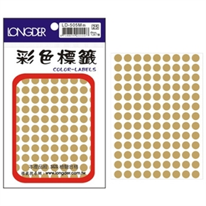 龍德 LD-505-M 圓型標籤 金色