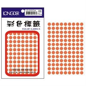 龍德 LD-505-O 圓型標籤 橙色