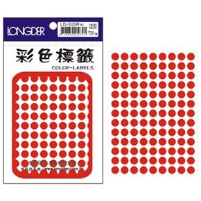 龍德 LD-505-R 圓型標籤 紅色