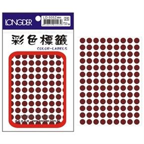 龍德 LD-505-Z 圓型標籤 咖啡