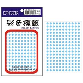 龍德 LD-506-LB 圓型標籤 淺藍色