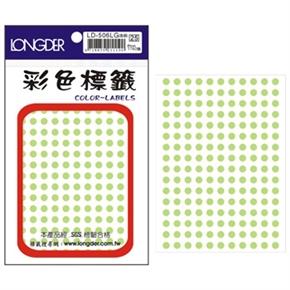 龍德 LD-506-LG 圓型標籤 淺綠色