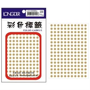 龍德 LD-506-M 圓型標籤 金色