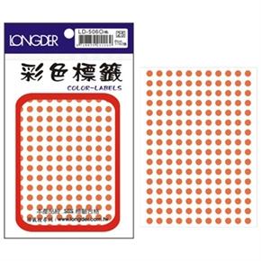 龍德 LD-506-O 圓型標籤 橙色