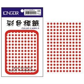 龍德 LD-506-R 圓型標籤 紅色