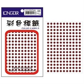 龍德 LD-506-Z 圓型標籤 咖啡色