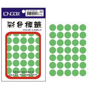 龍德 LD-530-G 圓型螢光標籤 綠