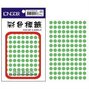龍德 LD-534-G 圓形螢光標籤 綠