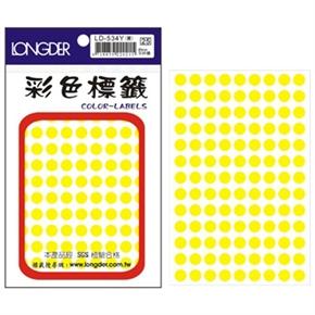 龍德 LD-534-Y 圓形螢光標籤 黃