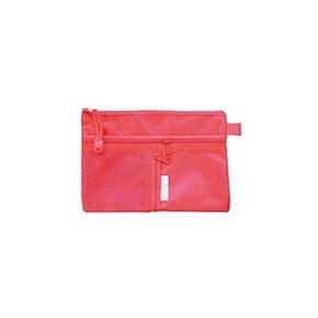 A6 雙層三拉鍊文件袋 (紅)
