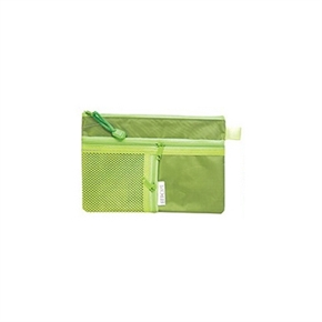 A6 雙層三拉鍊文件袋 (綠)