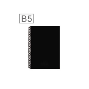LIHIT 皮革MiniB5筆記本(29孔) 黑色 D1073-24