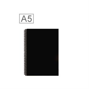 LIHIT 皮革A5筆記包(24孔) 黑色 D1072-24