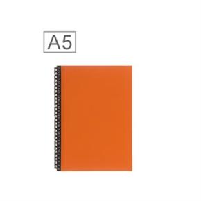 LIHIT 皮革A5筆記包(24孔) 橘色