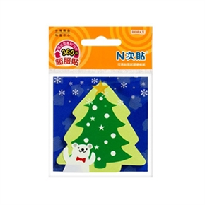 鶴屋 N次貼 61802環狀膠便條紙-耶誕樹