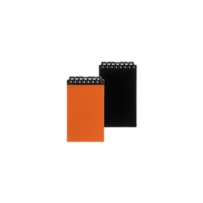 LIHIT 皮革隨身筆記本(8孔) 黑色 D1070-24