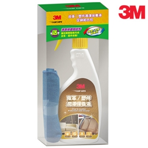 3M 皮革塑件潤澤保養液促銷包