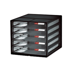 樹德 DD-105P 桌上型五層資料櫃-黑