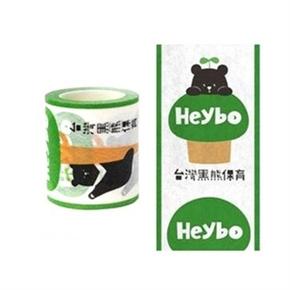 (在庫*40)知音文創 台灣黑熊紙膠帶 黑寶爬樹5cm