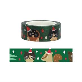 (在庫*2)知音文創 聖誕短碼紙膠帶 聖誕帽Party 9071911