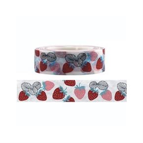 (在庫*5)知音文創 x Funtape 紙膠帶 草莓 15mm 15M