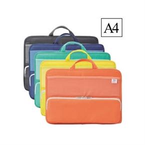 LIHIT A4橫式多功能袋中袋 綠色 A-7664-7