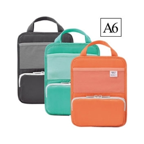 LIHIT A6直式多功能袋中袋 黑色 A-7666-24
