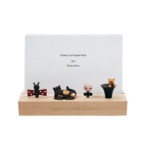 知音文創 1099501 木收藏貓相框 躺貓
