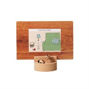 知音文創 1099804 木小物相框 貓抓老鼠