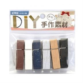 紙博館 1-339I 木夾子 (彩色隨機)
