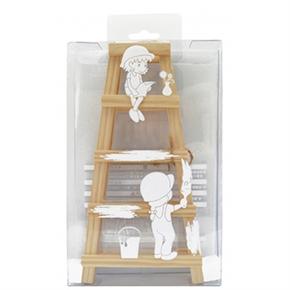 紙博館 WL-01 松木A型小木梯 (附壓克力名片架)