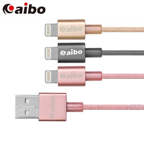 aibo Apple Lightning 8pin 原廠認證 鋁合金編織高速充電傳輸線(1M)