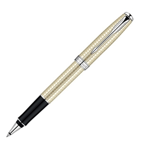 派克 商賴純銀格珍珠白夾 鋼珠筆