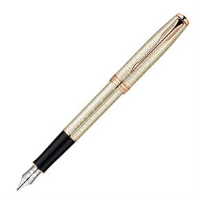 派克 商賴純銀格玫瑰金夾 鋼筆