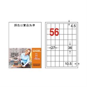 龍德 LD-877-W-C A4電腦三用標籤 白
