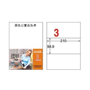 龍德 LD--807-W-C A4電腦三用標籤 白