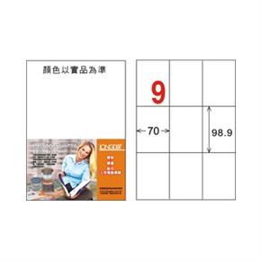 龍德 LD-896-W-C A4電腦三用標籤 白