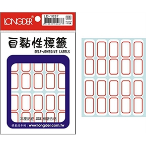 龍德 LD-1037自黏性標籤紅框