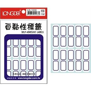 龍德 LD-1038自黏性標籤藍框