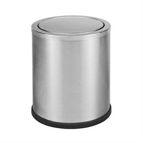 C42S-03不鏽鋼圓形翻蓋垃圾桶(大)
