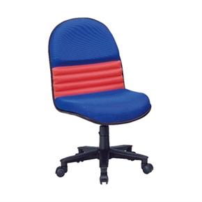 Y180-3 沙暴辦公椅(藍 紅布)