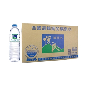 悅氏 礦泉水600ml*24瓶一箱