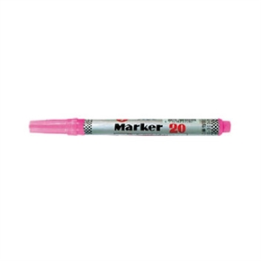 英士 NO.20 油性速乾筆 粉紅色
