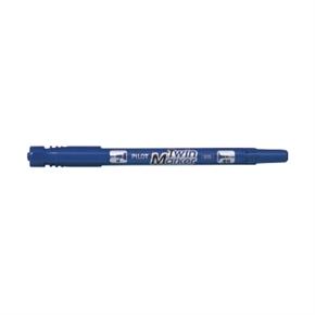 PILOT百樂 MF-12EU 雙頭麥克筆-細 藍