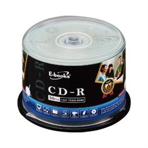 E-books 國際版 CD-R燒錄片 52X 50片 布丁筒