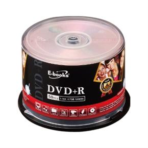 E-books 國際版 16X DVD+R 燒錄片16X 50片 布丁筒