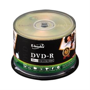 E-books 16X DVD-R 燒錄片16X 50片 布丁筒