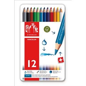 CARAN d'ACHE 卡達 FANCOLOR水溶性色鉛筆 12色