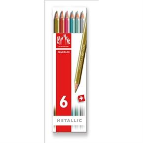 CARAN d'ACHE 卡達 FANCOLOR水溶性色鉛筆 6色