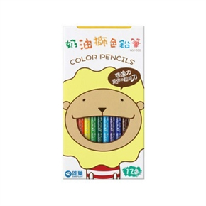 奶油獅 1200色鉛筆 12色(紙盒)